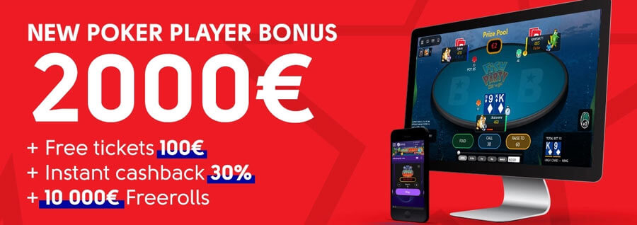 Olybet Poker 2000 Welcome Bonus Free Tickets 100 Cashback 30 Freerolls 10 000 Gambling Bonuses